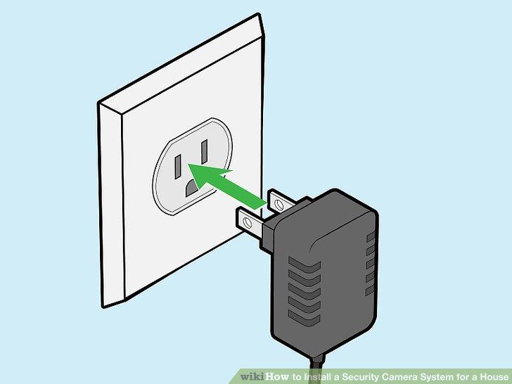 اتصال به برق دوربین مدار بسته