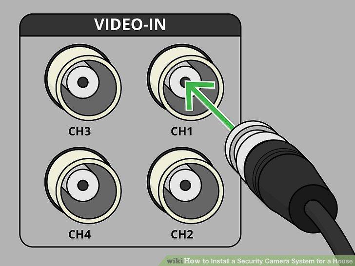 اتصال کابل برای دوربین مدار بسته