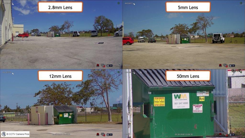 اندازه لنز دوربین مداربسته در مقایسه با دوربین مداربسته دیجیتال HD