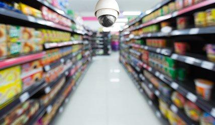 نصب دوربین مدار بسته در سوپرمارکت