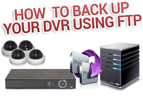 نحوه پشتیبان گیری از DVR به وسیله FTP