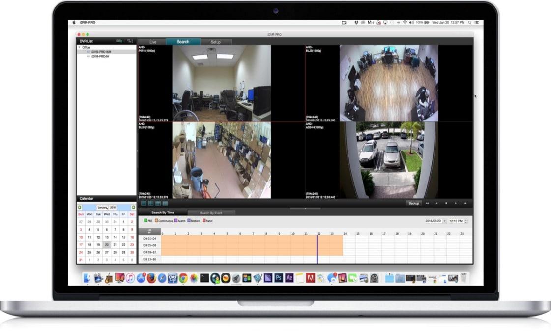 پشتیبانی نرم افزار مک DVR viewer از دوربین های مداربسته 1080p HD
