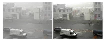 دوربین مداربسته در مه و دود