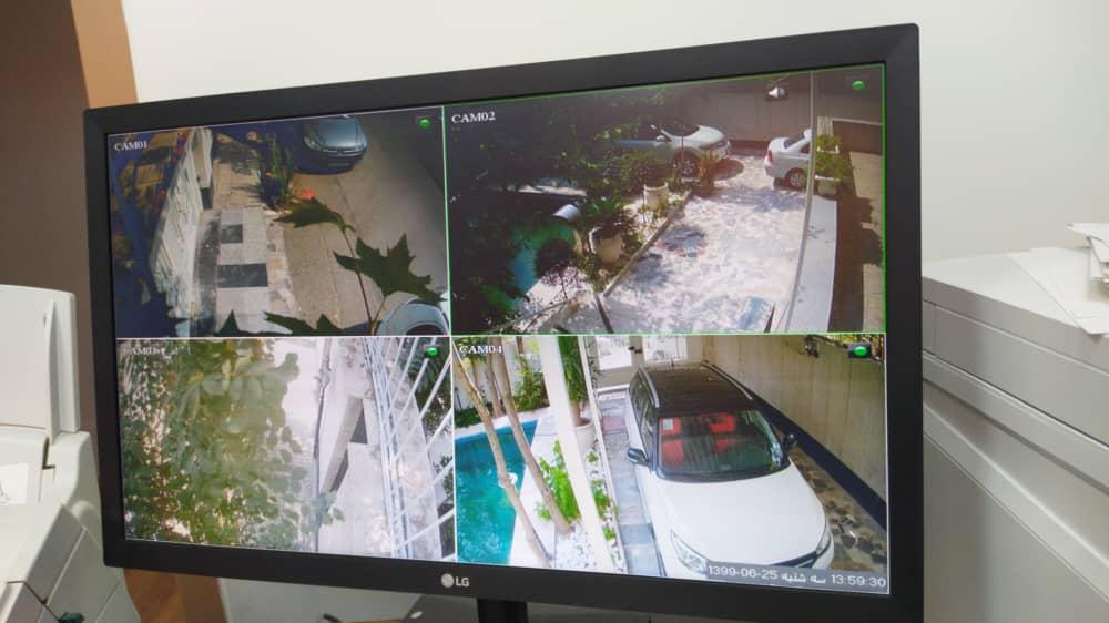تصاویری از نصب دوربین مدار بسته در اطراف منزل، پارکینگ